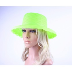 Dameshoed fluor groen