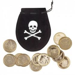 Piraten tasje met gouden munten