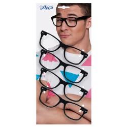 Zwarte brillen 4 stuks