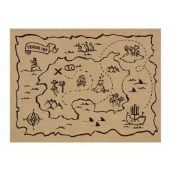 Papieren placemats piraten