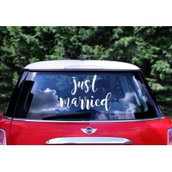 Autosticker 'Just Married'