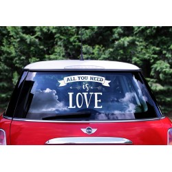 Autosticker 'All you need is love'