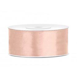 Satijnlint 25mm rosé goud