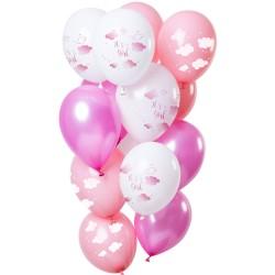 Ballonnen set wolken meisje
