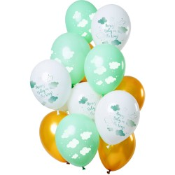 Ballonnenset wolken unisex