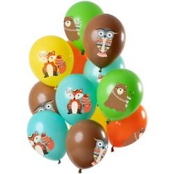 Ballonnenset dieren uit het bos