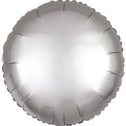 Heliumballon rond zilver standaard