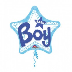 Heliumballon ster Baby Boy Supersize