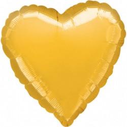 heliumballon hart goud standaard