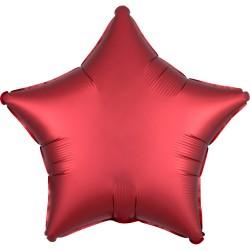 Heliumballon ster mat hardroze standaard