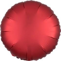 Heliumballon rond mat rood standaard