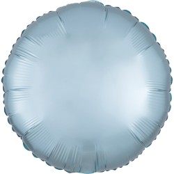 heliumballon rond mat pastel blauw standaard