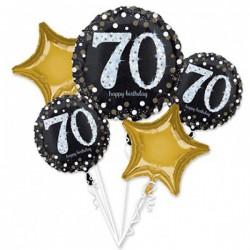 Heliumballonnen boeket 70 metallic goud