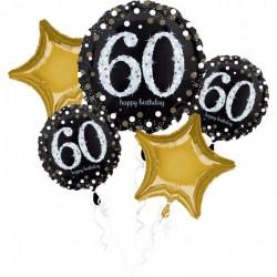 Heliumballonnen boeket 60 metallic goud