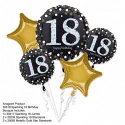 Heliumballonnen boeket 18 metallic goud