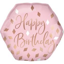 Heliumballon Blush Birthday jumbo