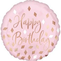 heliumballon Blush Birthday standaard