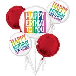 Heliumballonnen boeket Rainbow Wishes