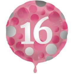Heliumballon Glossy Pink 16