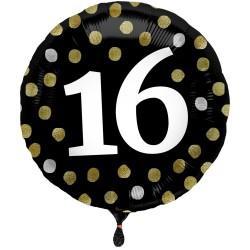 Heliumballon Glossy Black 16
