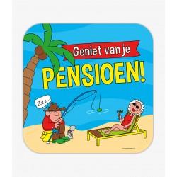 Huldebord pensioen cartoon