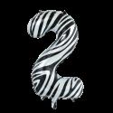 Ballon cijfer 2 zebra