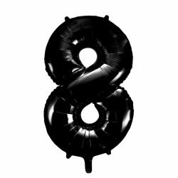 Ballon cijfer 8 zwart