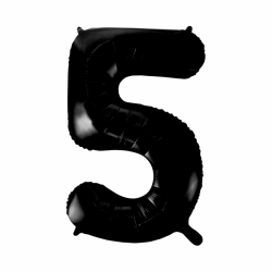 Ballon cijfer 5 zwart