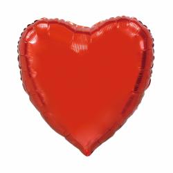 Heliumballon hart rood jumbo