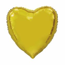 Heliumballon hart goud jumbo
