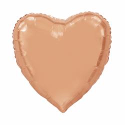 Heloumballon hart rosé goud jumbo