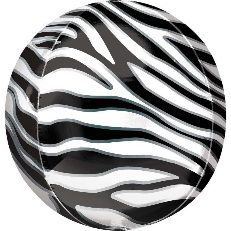 Heliumballon orbz zebra