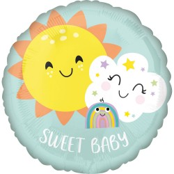 Heliumballon Sweet baby standaard