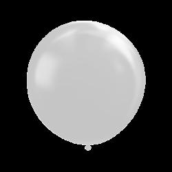 Ballon 100 cm metallic zilver