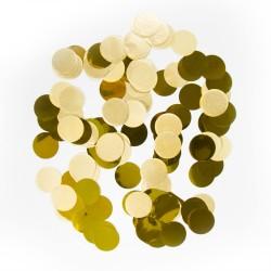 Confetti groot metallic goud