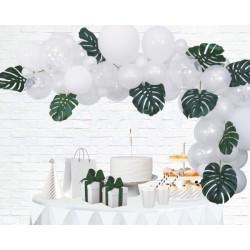 Ballonnenboog decoratie kit wit