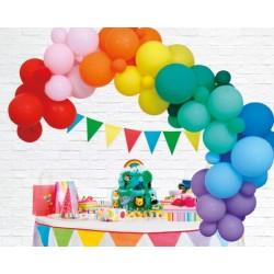 Ballonboog decoratie kit regenboog