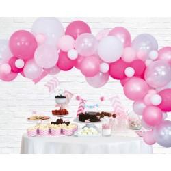 Ballonnenboog decoratie kit roze