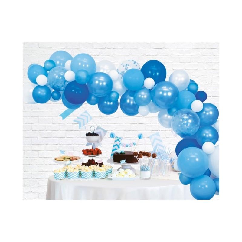 Ballonnenboog decoratie kit blauw