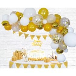 Ballonnenboog decoratie kit goud