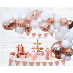 Ballonnenboog decoratie kit rosé goud