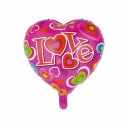 Heliumballon Love pink standaard