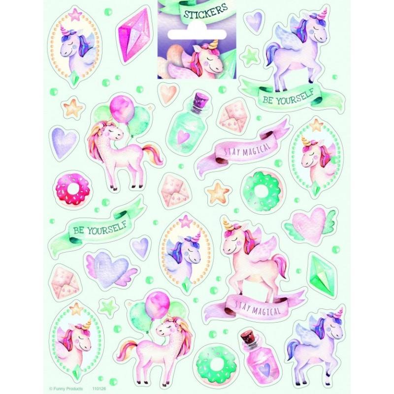 Stickers Large Unicorns