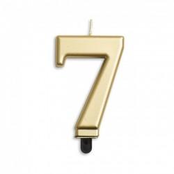 Kaarsje goud cijfer 7