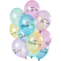 Ballonnenset transparant Happy Birthday
