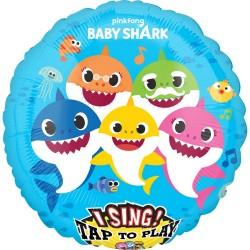 Heliumballon Baby Shark MET MUZIEK