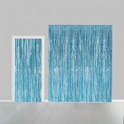 Deurgordijn folie licht blauw