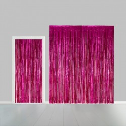 Deurgordijn folie hard roze
