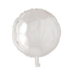 Heliumballon rond wit standaard