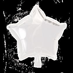 Heliumballon ster wit standaard